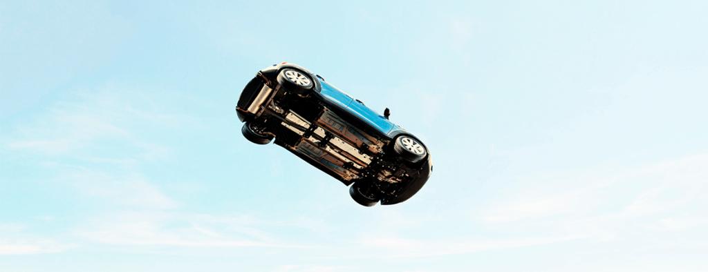 Den lille Ford kom ud på en flyvetur